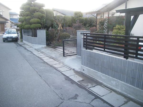 松本市 A様邸 ブロック塀積