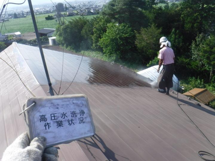 高圧水洗浄 作業状況
