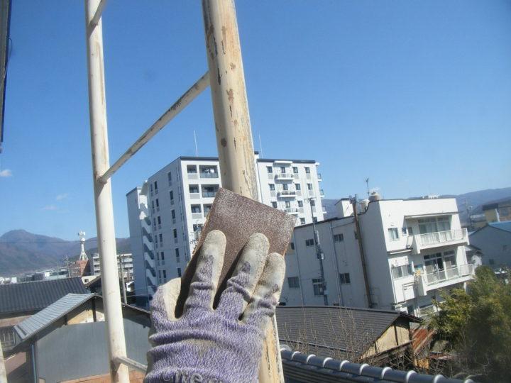 【タラップ】素地調整 作業状況