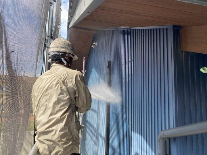 【施工中!!】長野県松本市 外壁塗装・屋根塗装