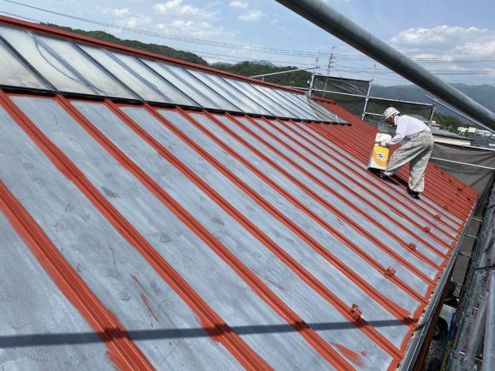 【屋根】下塗 作業状況