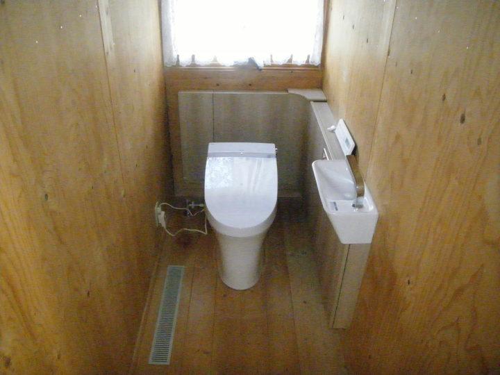 新規トイレ設置 完了