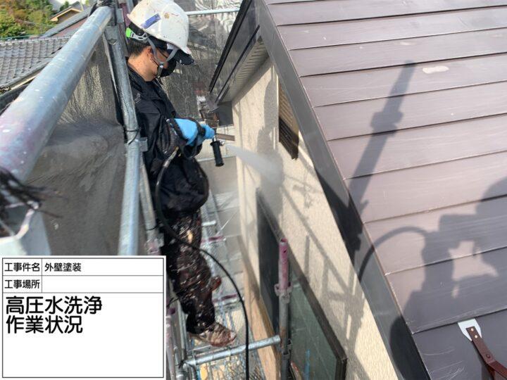 高圧水洗浄作業状況